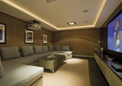 Small Media Rooms On Pinterest Small Home Theaters Movie Room Decorations And Media Room Design