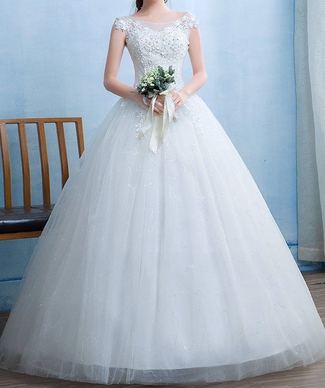 Lace Wedding Dress bridal gown princess tulle new chic fashion bride ...