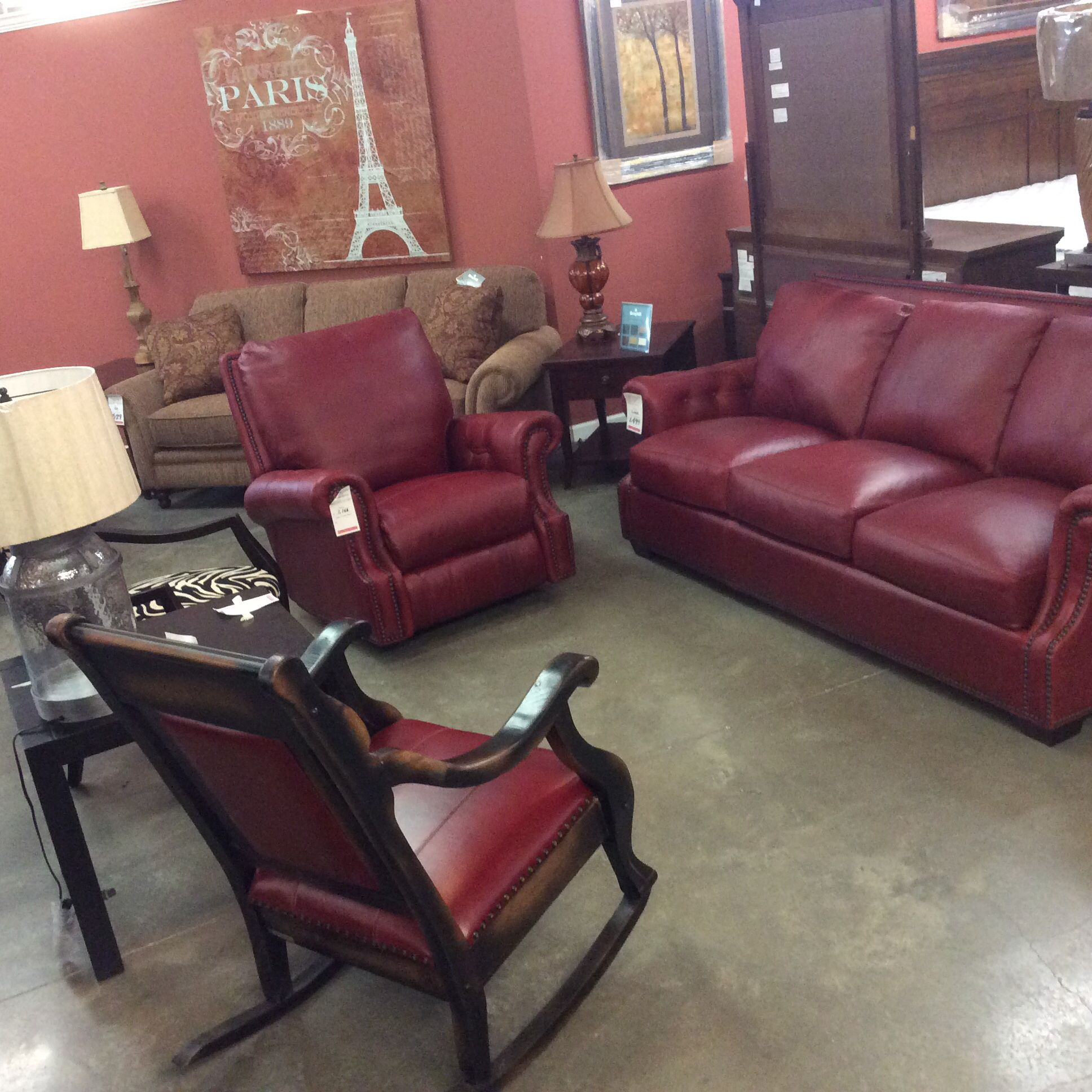 Usa Premium Leather Detail On The Arms Home Decor Recliner Chair Room Group