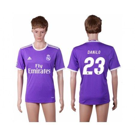 Real Madrid 16-17 #Danilo 23 Udebanetrøje Kort ærmer,208,58KR,shirtshopservice@gmail.com