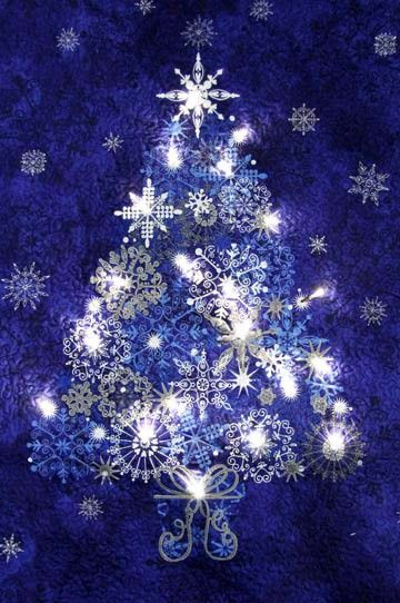 Lighted Starlight Christmas Tree Quilt Kit, Starry Night Stonehenge by  Northcott - Lighted Starlight Christmas Tree Quilt Kit, Starry Night Stonehenge