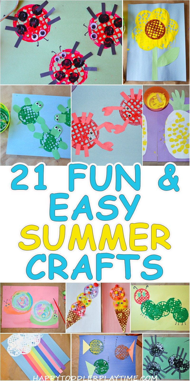 21 fun easy crafts for summer fun easy crafts summer