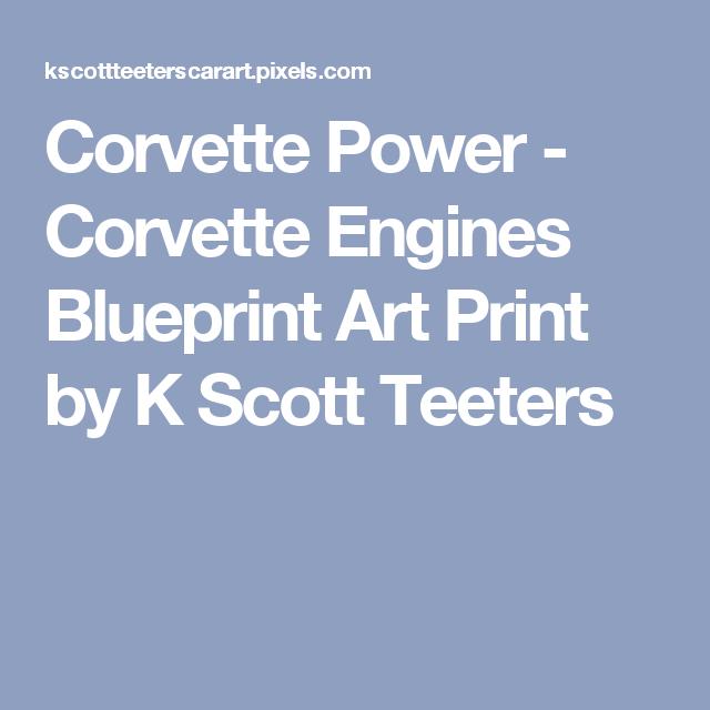 Corvette power corvette engines blueprint art print by k scott corvette power corvette engines blueprint art print by k scott teeters malvernweather Images
