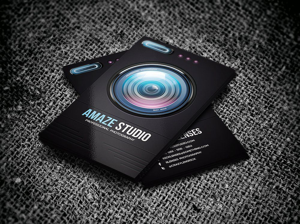 Photographer Lens Business Card by Odin_Design on @creativemarket ...
