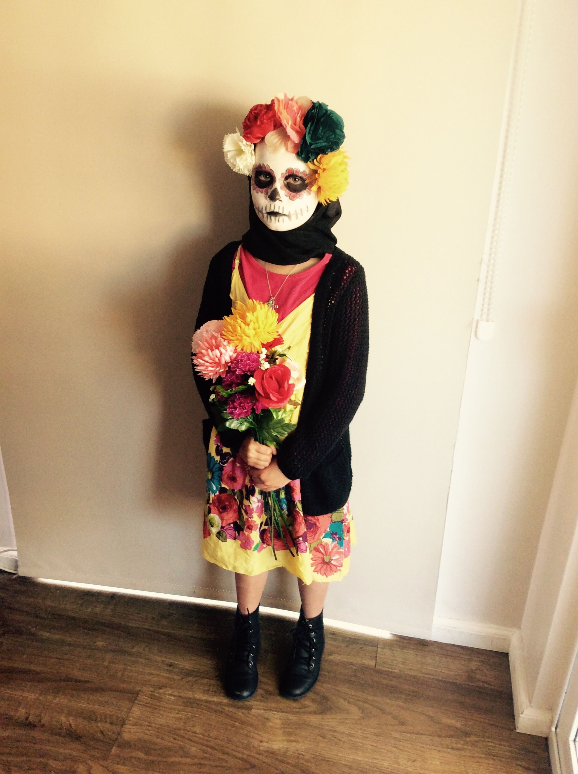 Day of the Dead Halloween DIY costume.