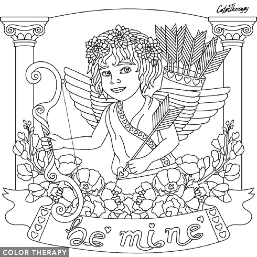 Cupid to color with Color Therapy App. Try this app for Free! get ...
