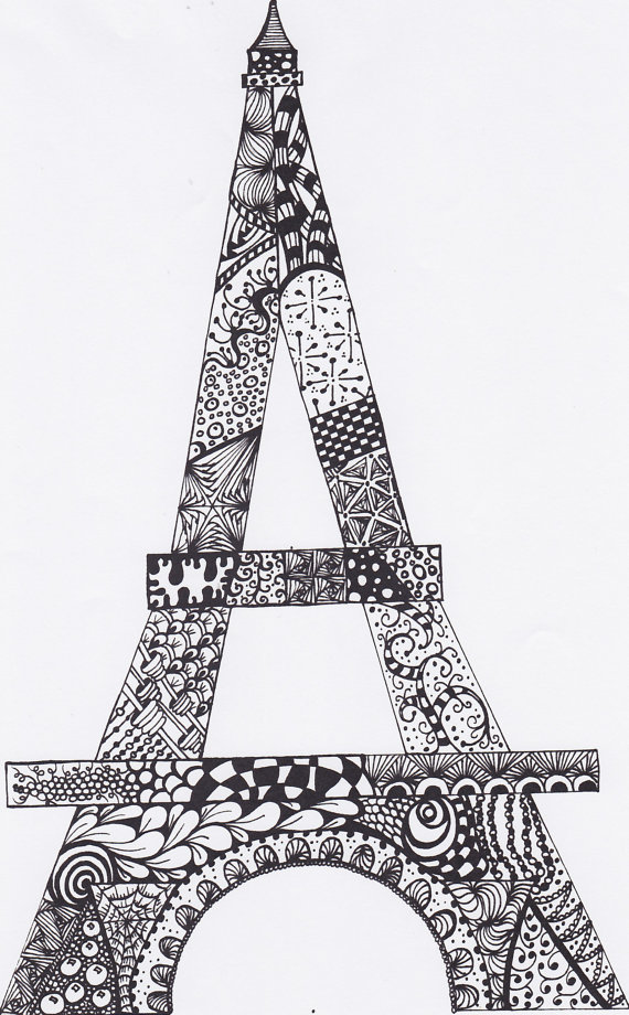 Eiffel Tower Drawing Original Abtract Pdf By Mycreeksidestudio 5 00 Eiffel Tower Drawing Drawings Eiffel