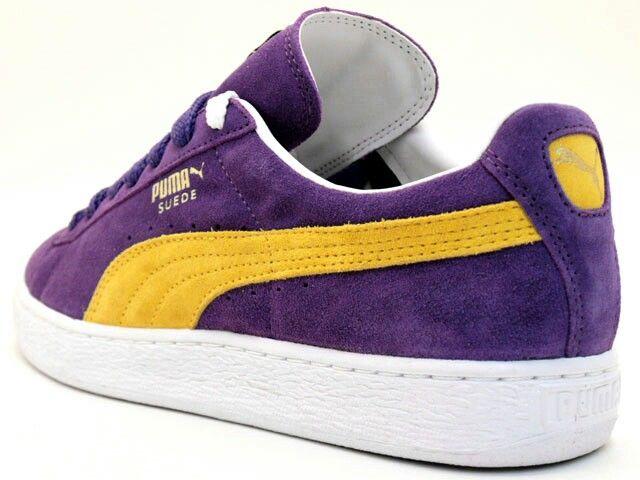 Suede Pumas Purple Yellow #Lakers
