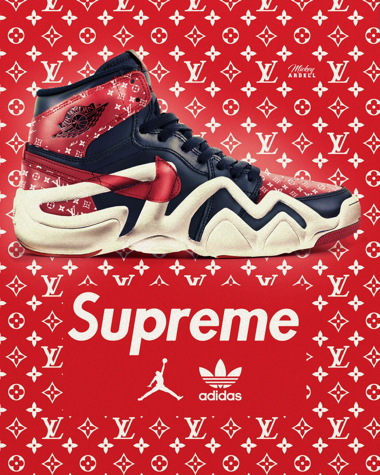 Louis Vuitton x Supreme x Adidas Originals x Air Jordan collab  wmcskills 83828fb34