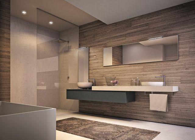 Bagno beige ~ Piatto doccia in resina filo pavimento abbinato al lavabo d