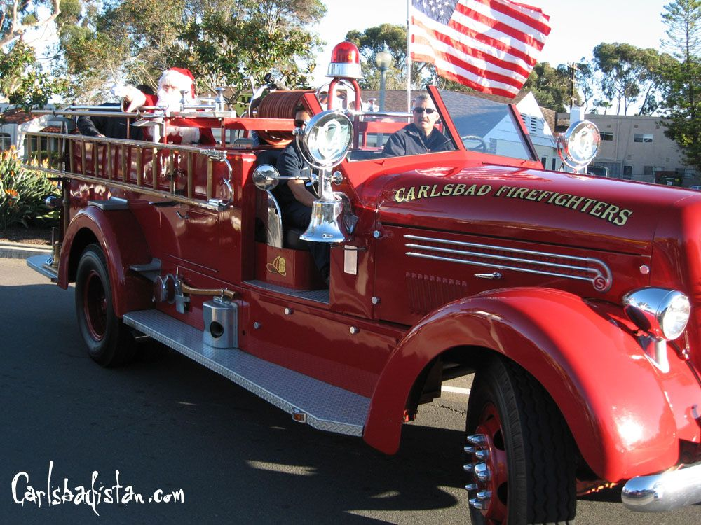Santa On Firetruck Fire Trucks
