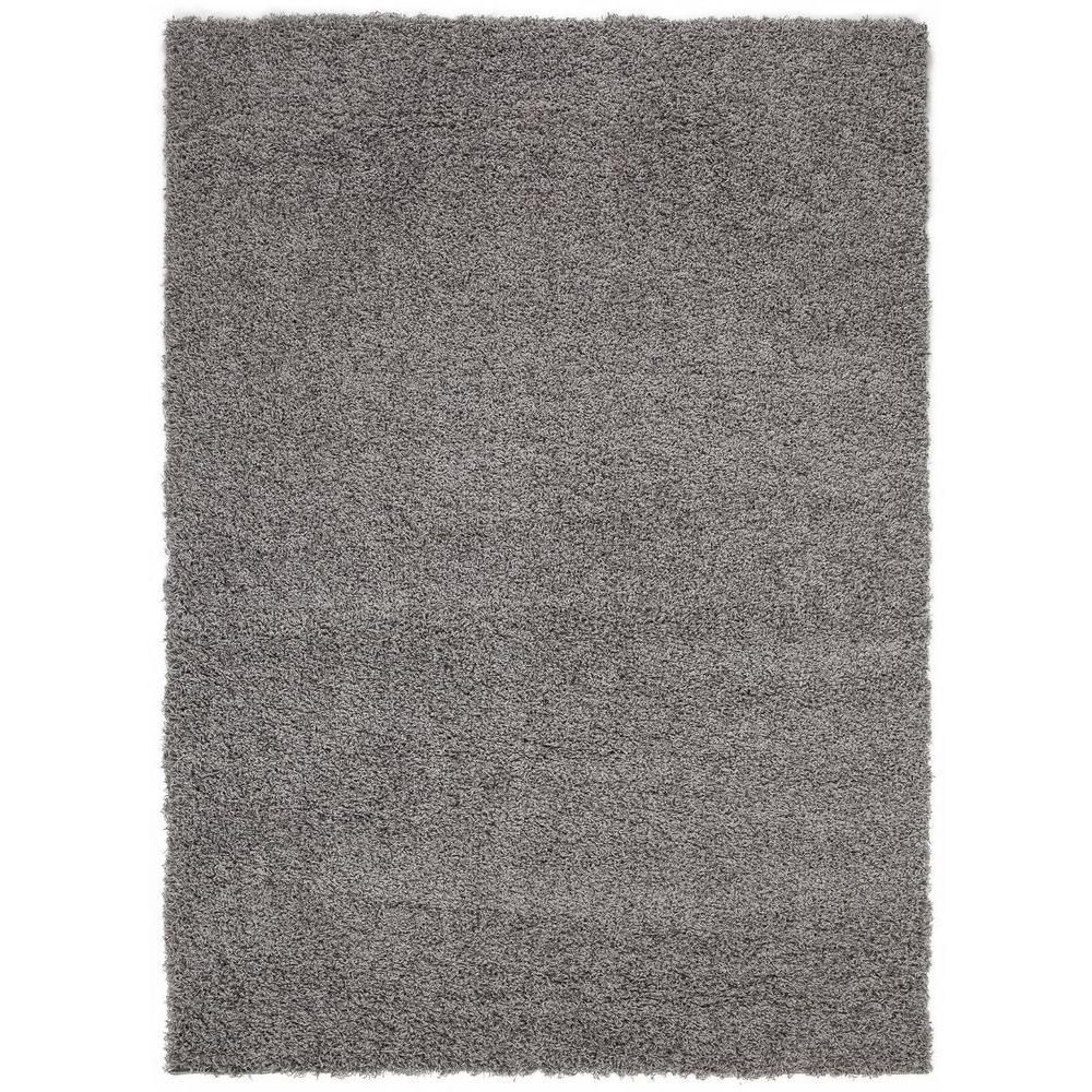 Sweet Home Stores Cozy Shag Collection Grey 8 Ft X 10 Ft Indoor