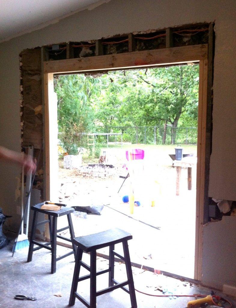DIY Install Patio door in Brick or Limestone wall  diy home  Patio doors Outdoor doors Diy patio
