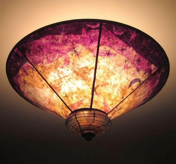 Sun moon and stars ceiling lamp shade glasstique pinterest sun moon and stars ceiling lamp shade aloadofball Choice Image