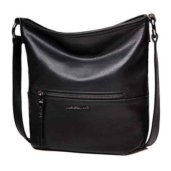68f813a0903d Амели ГАЛАНТИ случайные crossbody сумки женские Хобо Сумка (черный ...