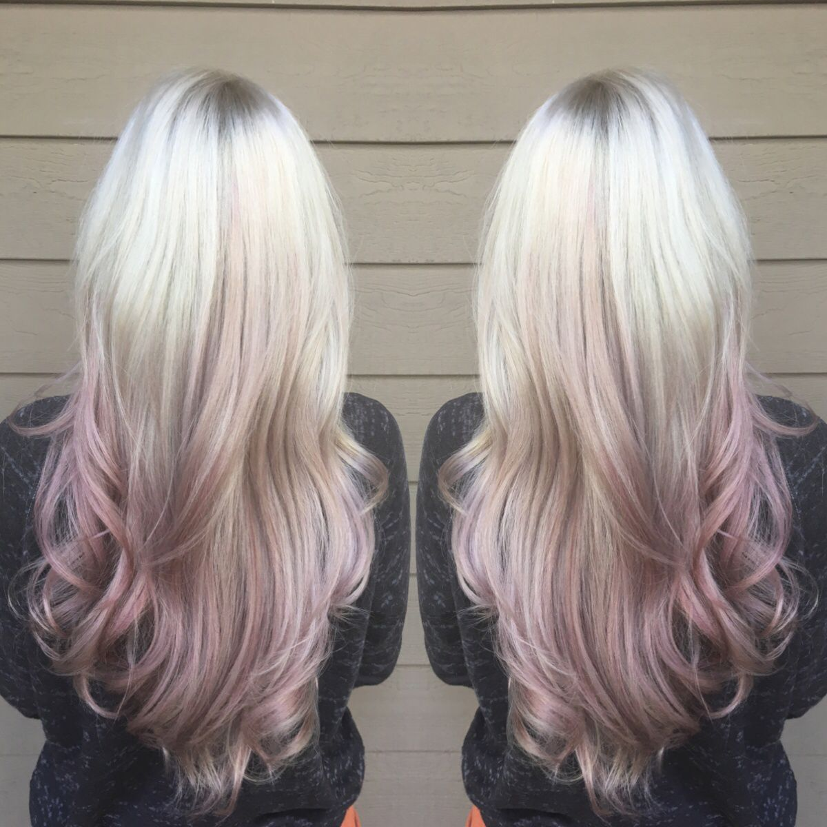 how to turn rose gold hair to silver