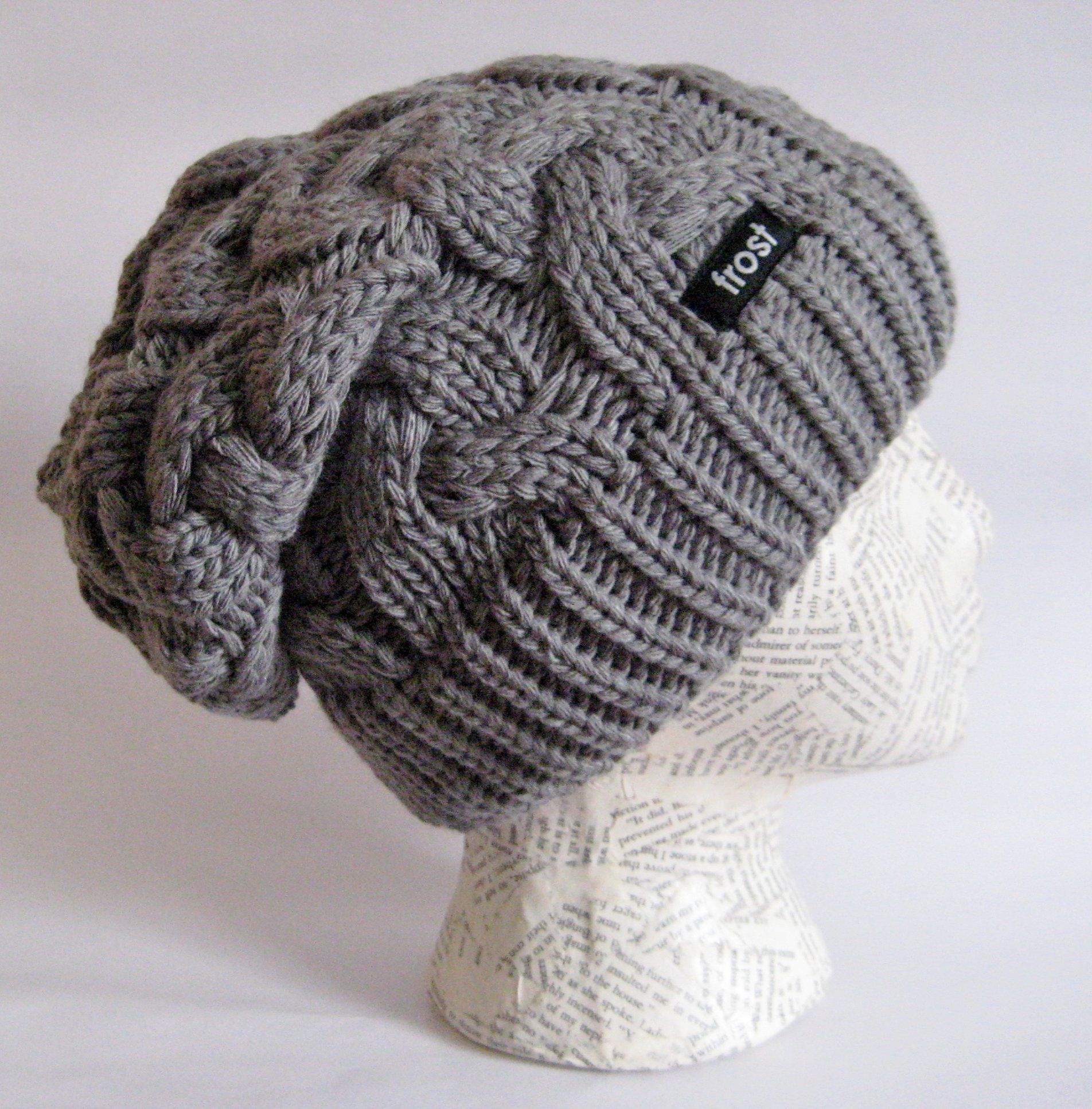 23c0afd982118 Frost Hats Winter Hat for Women CHARCOAL Slouchy Beanie Cable Hat Knitted  Winter Hat Frost Hats One Size Charcoal