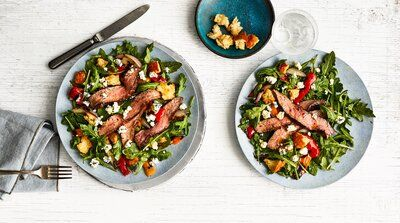 Steak-and-Bell Pepper Salad