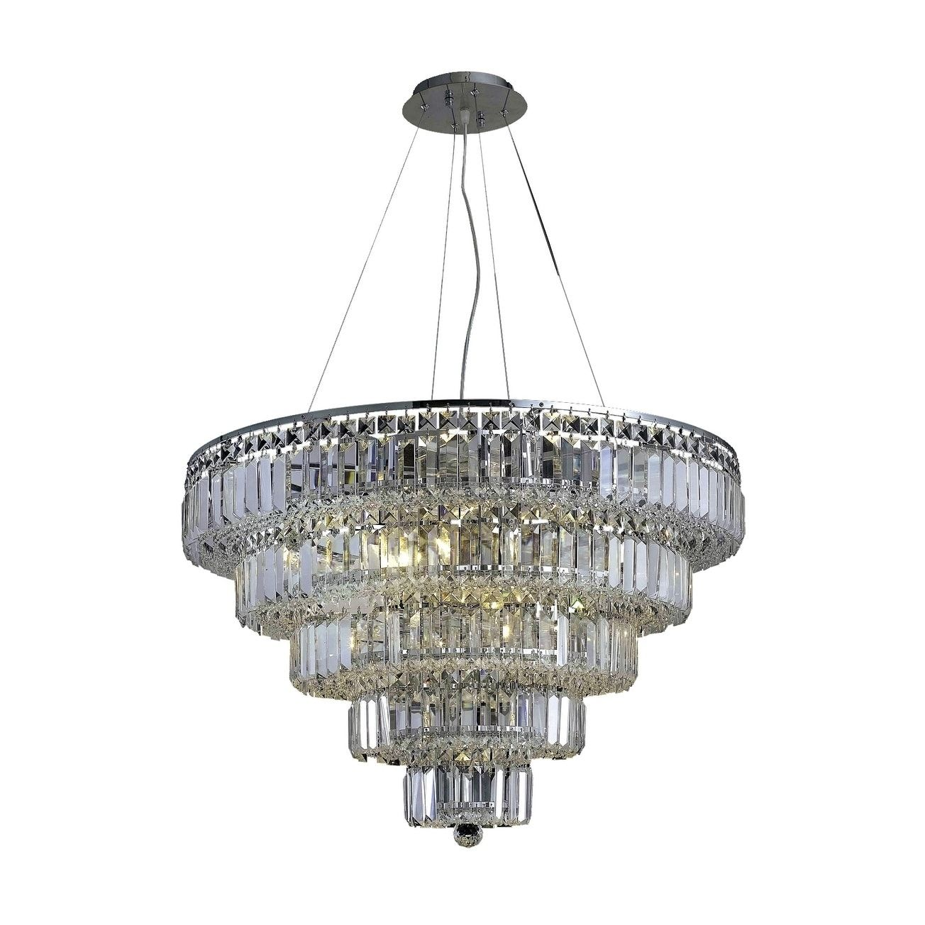 Hallway lighting no outlet  Elegant Lighting Maxime Light  in Chandelier Available in