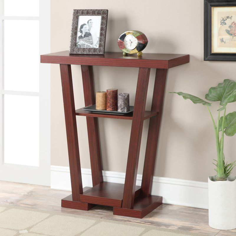 Convenience Concepts Newport V-Shaped Console Table - 121399