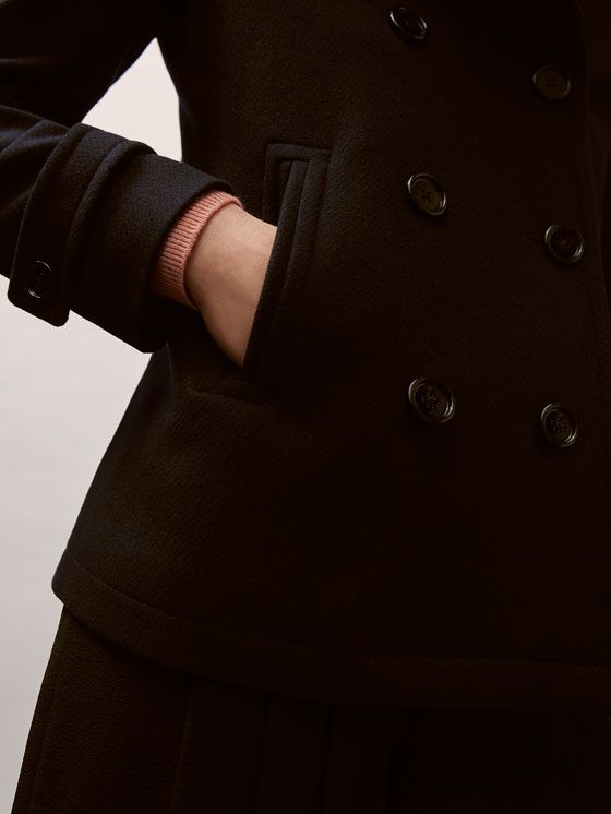 Fall Winter 2017 Women´s DOUBLE-BREASTED WOOL JACKET at Massimo Dutti for 199. Effortless elegance!