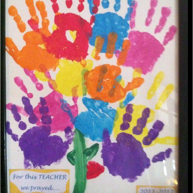 Student handprint flower bouquet for Teacher Appreciation Week ...