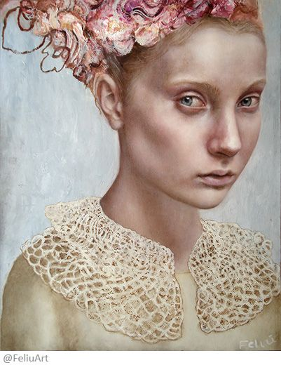 Valeria Feliú - Thinking that there are no guarantees for such a dream – Oil painting