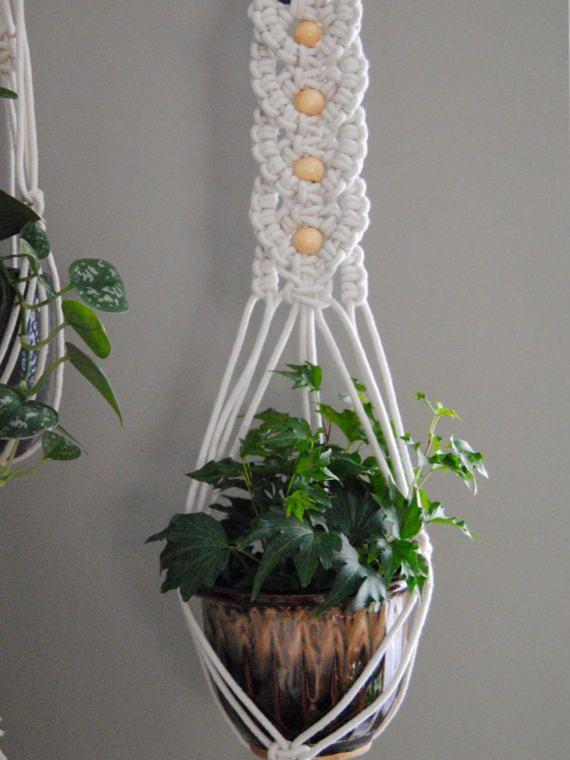 Venta meena macram planta suspensi n macram pinterest - Colgadores de macetas ...