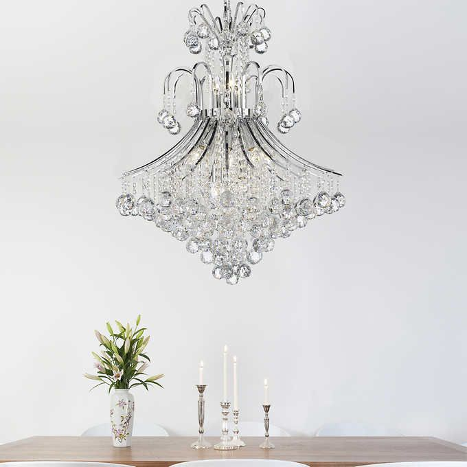Lighting By Pecaso Contour Chrome Chandelier 31 L X 26 W 43 Lbs Number Of Lights 15