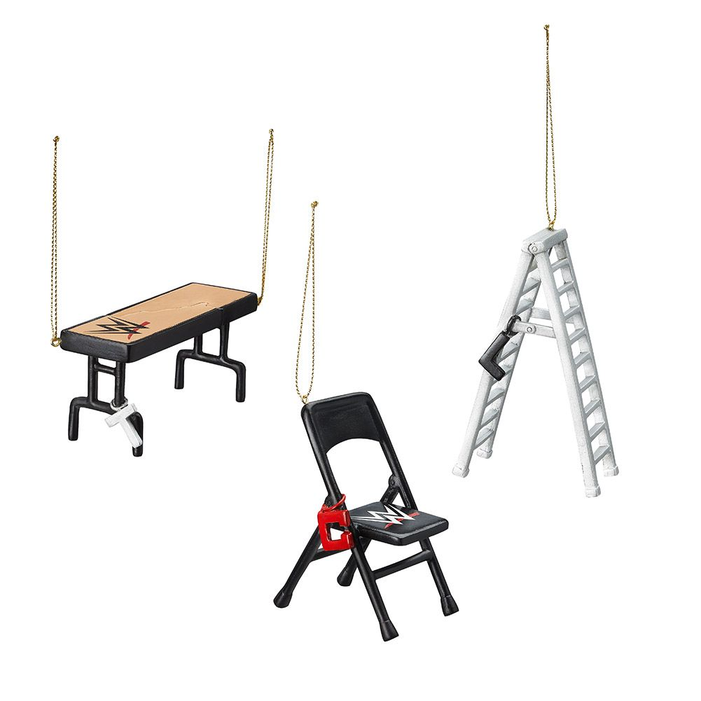 Wwe Tables, Ladders, And Chairs Holiday Ornament Set  Wwe