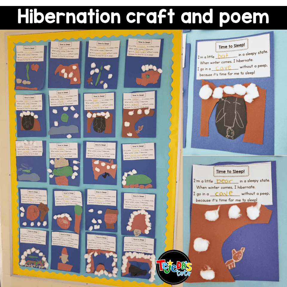 When We Learn About Hibernation We Love Singing This Poem To Learn About How Each Animal Sur Winter Animals Kindergarten Hibernation Activities Winter Animals [ 960 x 960 Pixel ]