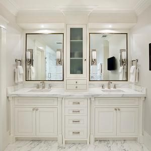Add cabinet on counter for desired medicine cabinet