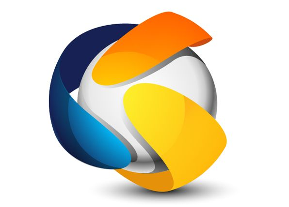 3d looking sphere logo illustrator tutorial photoshop for Logo 3d online