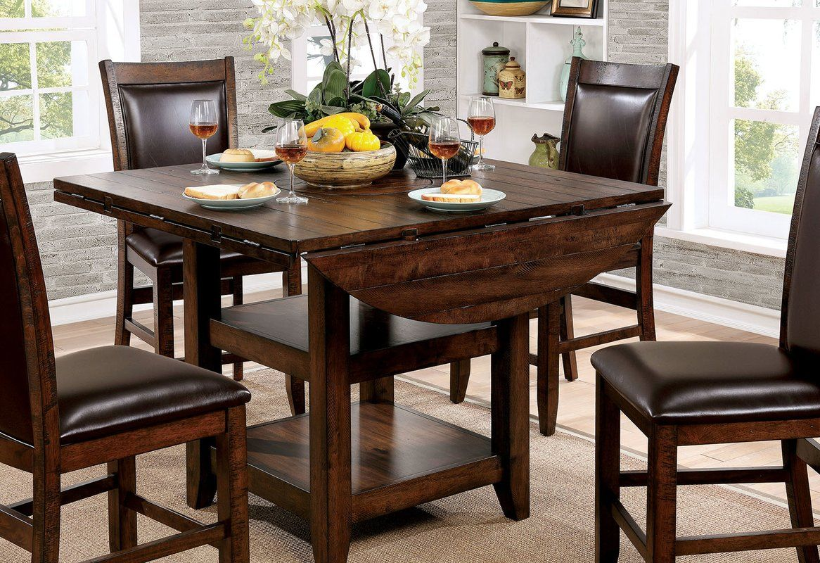 Herbert Counter Height Drop Leaf Dining Table High Top Dining