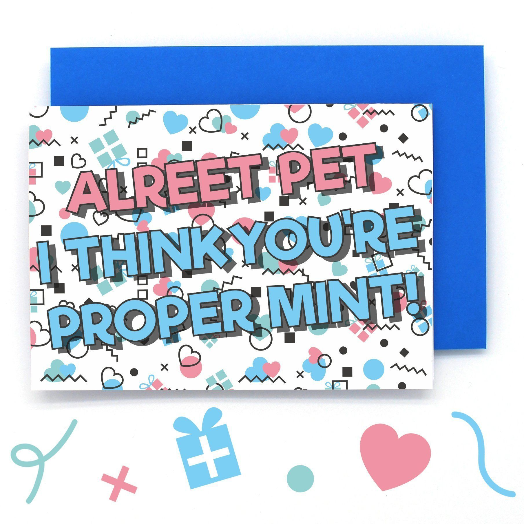 Northern Love Alreet Pet Card Funny Anniversary Cards Funniest