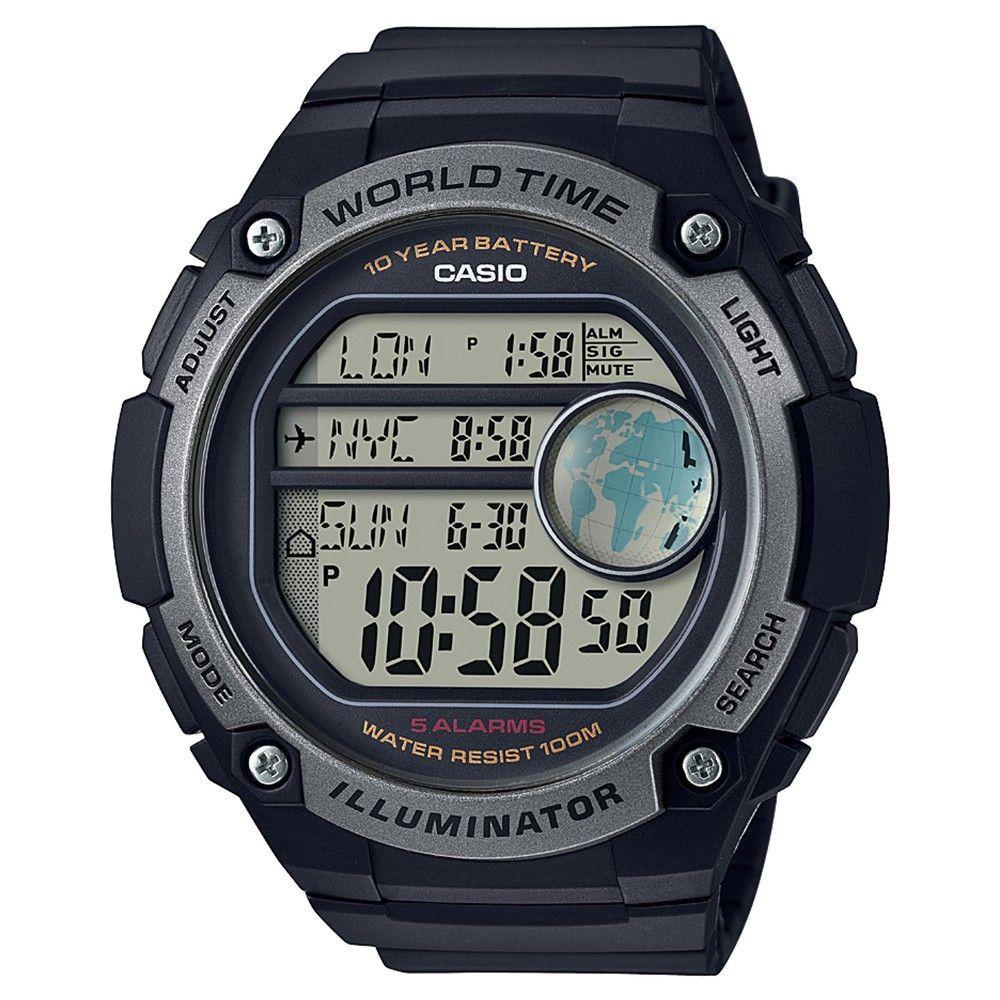 44f9d848957 Men s Casio AE3000W-1AV Digital Watch - Black and Silver
