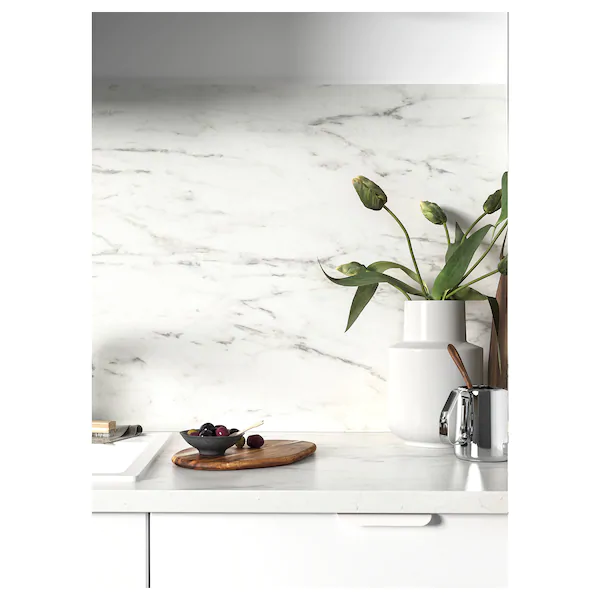 Ekbacken Plan De Travail Blanc Marbre Stratifie 186x2 Ikea Replacing Kitchen Countertops Marble Countertops Kitchen Countertops