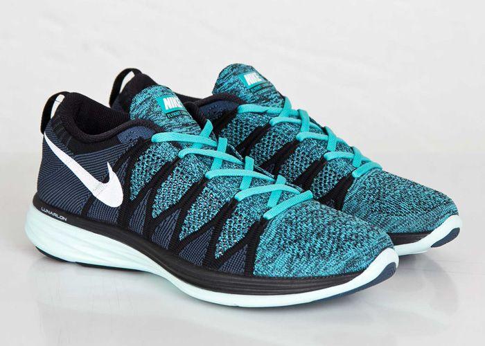 c46469ff9867 Nike Flyknit Lunar 2 Black   White   Sport Turquoise