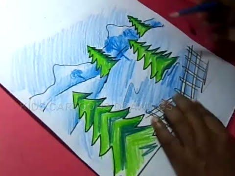 How To Draw Beautiful Scenery Drawing Step By Step For Kids Youtube Beautiful Scenery Drawing Step By Step Drawing Drawing For Kids