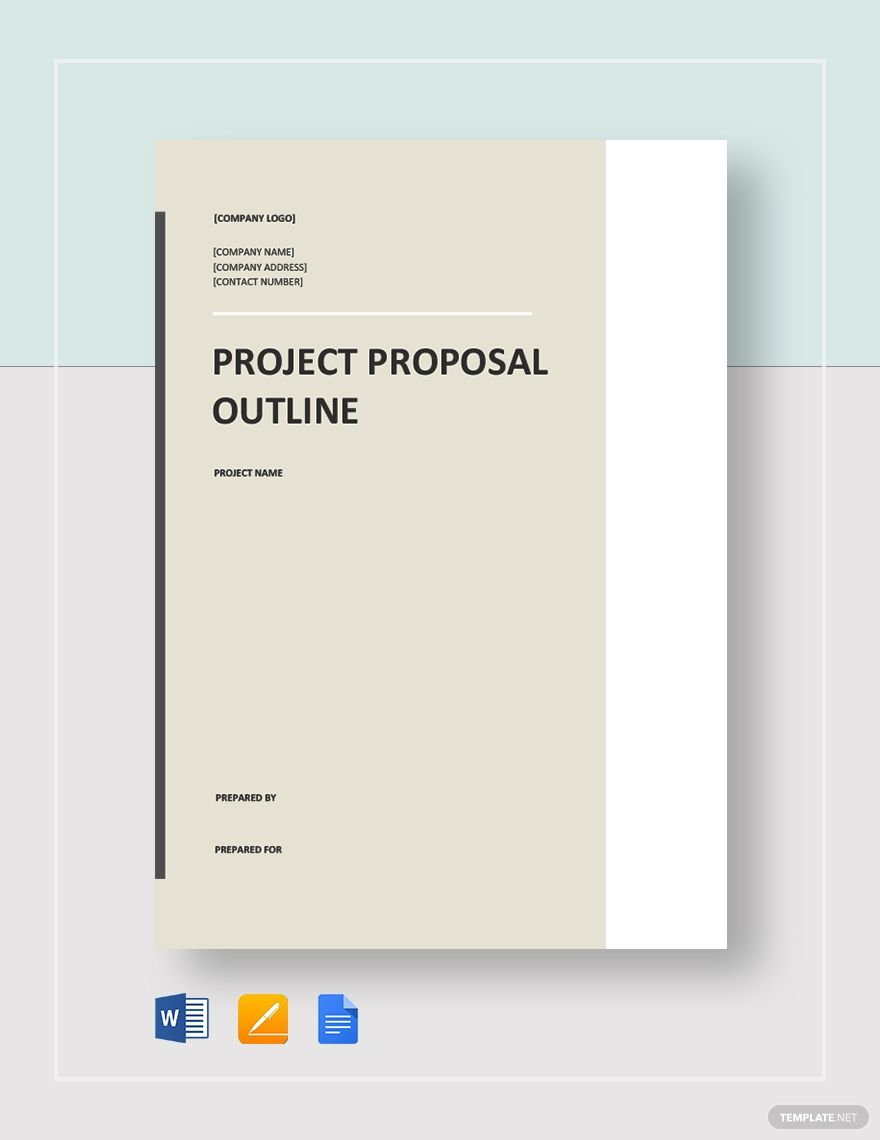 Project Proposal Outline Template Free Pdf Word Apple Pages Google Docs Word Template Design Business Proposal Template Project Proposal Project outline template microsoft word
