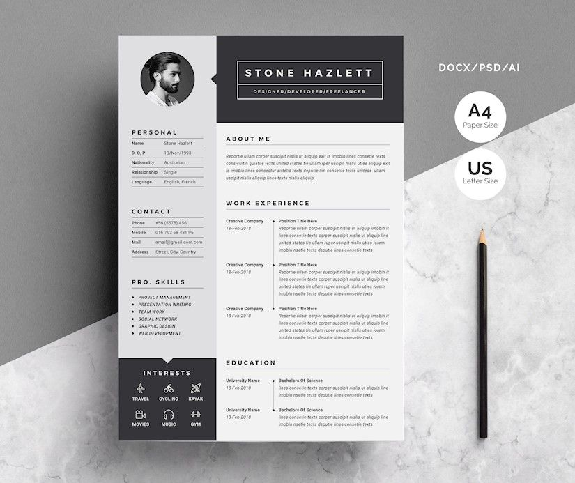 45 Creative Graphic Designer Resume Examples Templates Onedesblog In 2020 Graphic Design Resume Cv Template One Page Resume Template