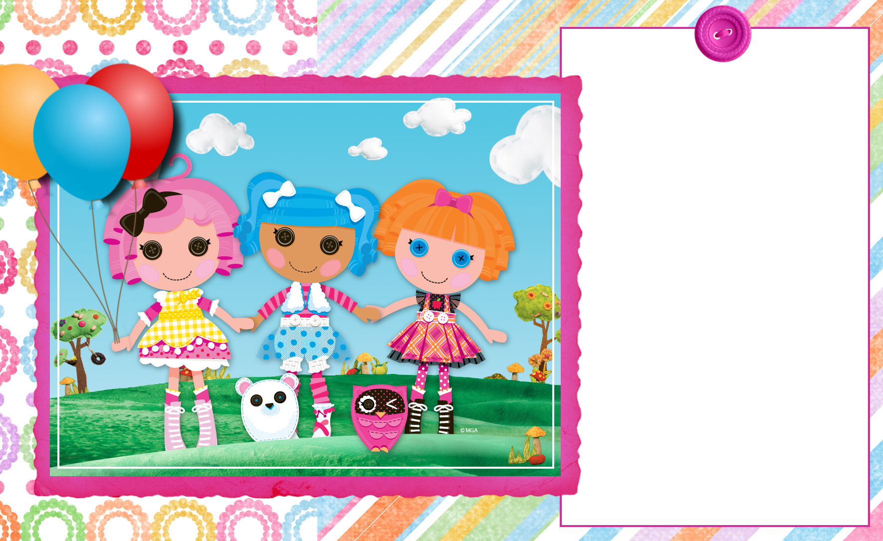 FREE CUSTOMIZABLE INVITATION FOR LALALOOPSY PARTY! glad if you will ...