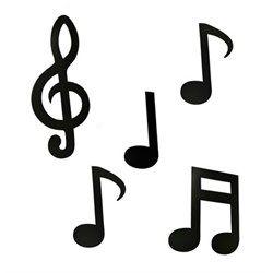 Kit Painel Enfeite Notas Musicais Paper Fest Notas Musicais