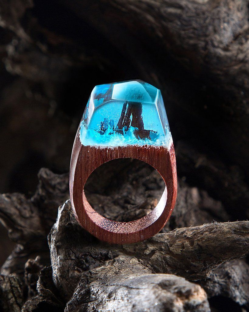 Siberia™ - Handcrafted Wood Resin Rings | Wood resin, Resin ring and ...