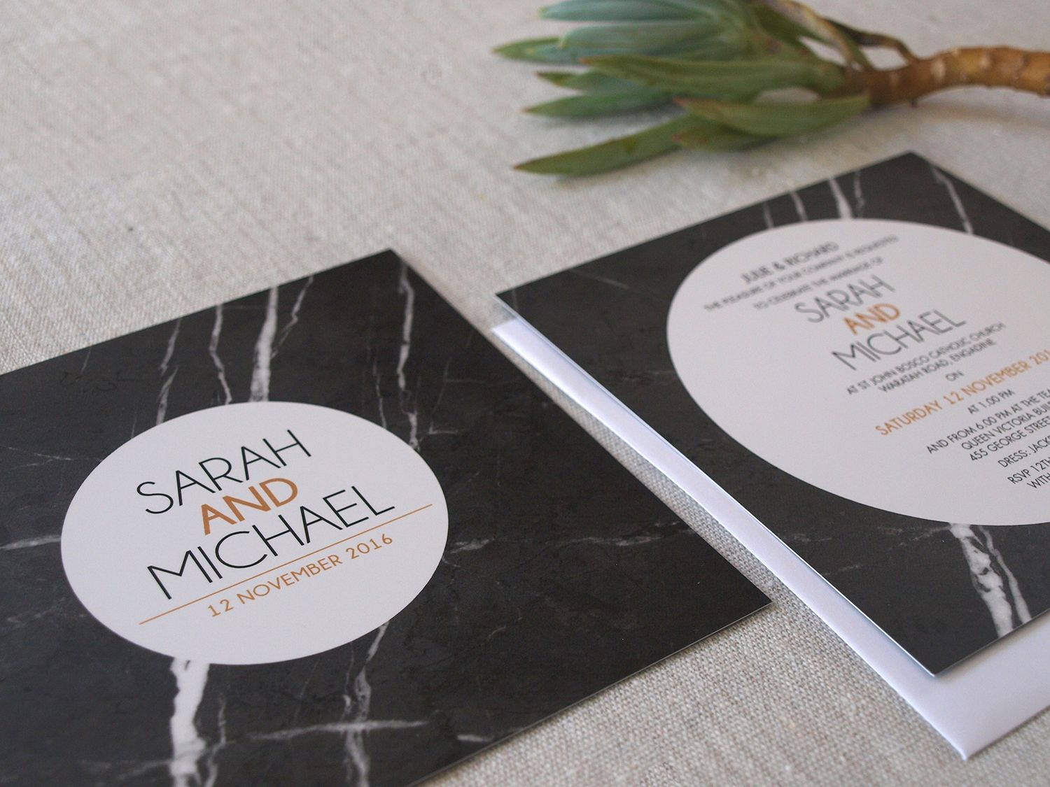 Marble wedding invitations by Alannah Rose #marble #invitations ...