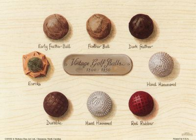 Vintage Golf Balls Art Print Poster And Print Vintage Golf Golf Ball Gift Golf Decor