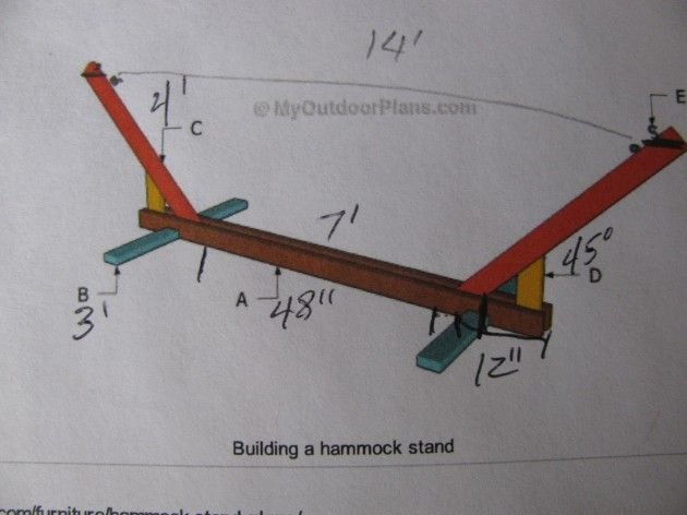 Medium image of hand built hammock plans