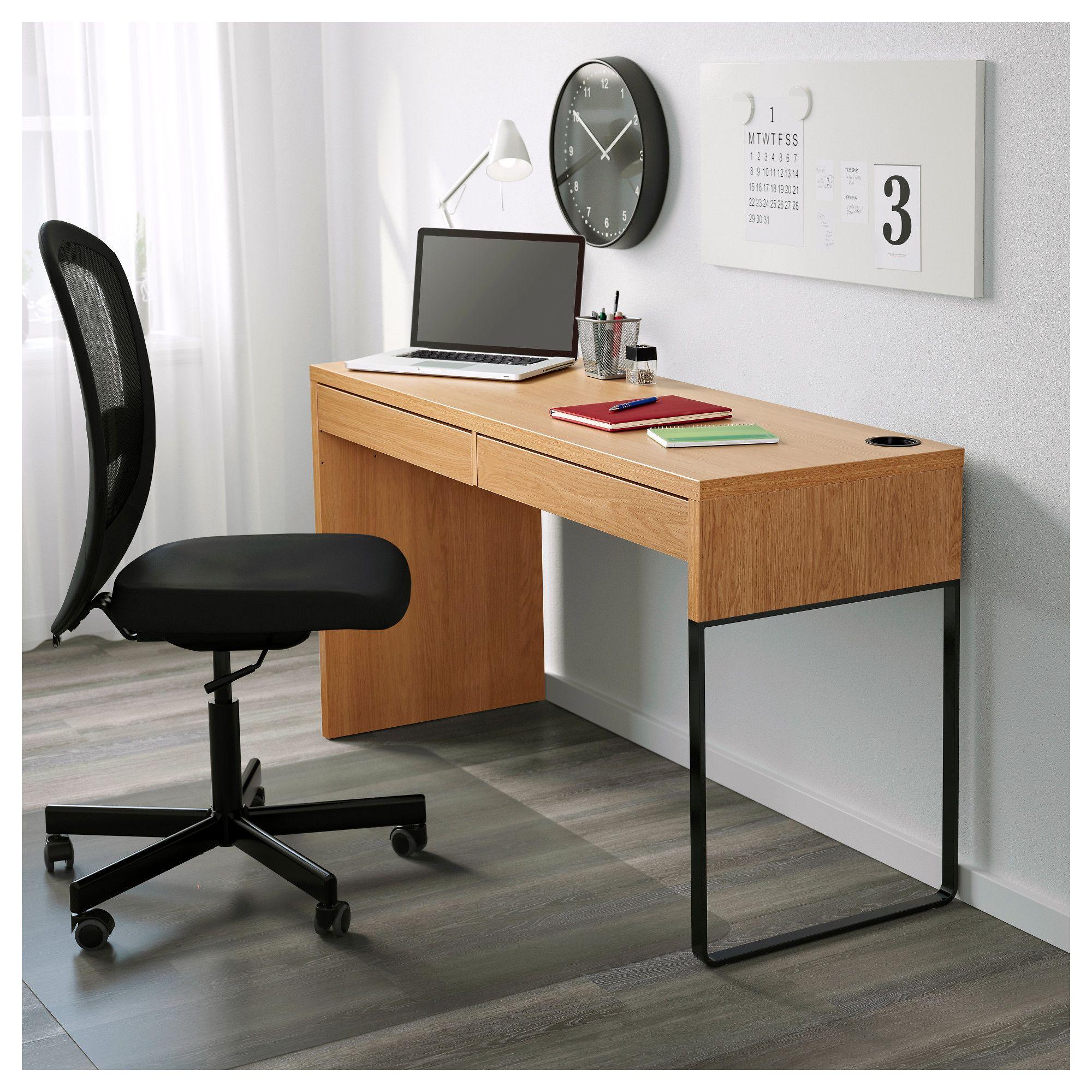 MICKE oak effect, Desk, 33x33 cm - IKEA  Micke desk, Desk, Ikea