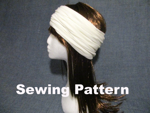 Cotton jersey headband sewing pattern pdf, stretch head cover, soft ...