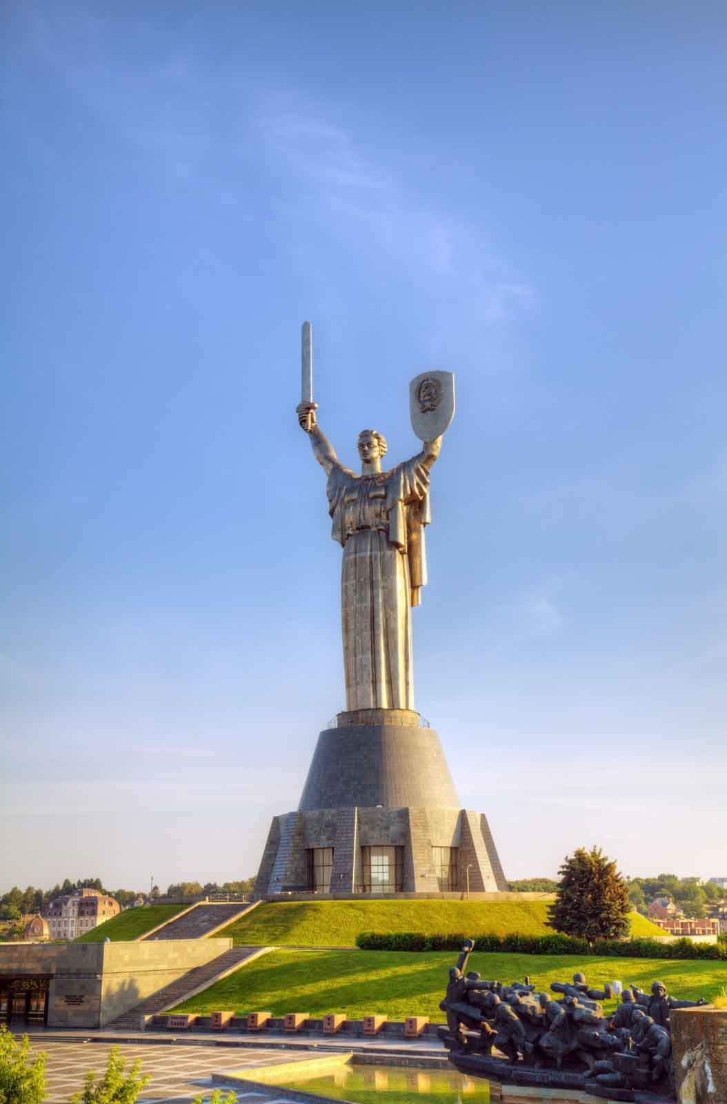 The Motherland Monument Or Rodina Mat In Kiev Ukraine Kiev Monument Most Haunted Places